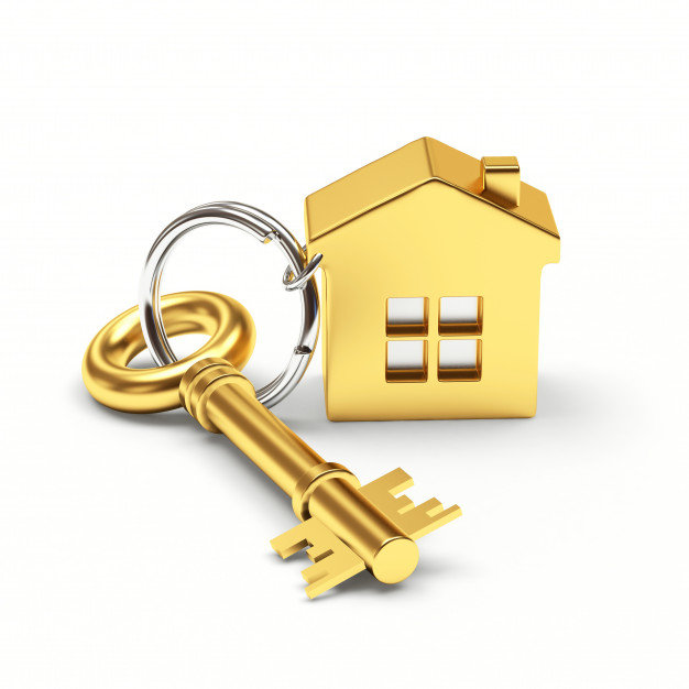 golden-key-with-house-keychain_290464-26