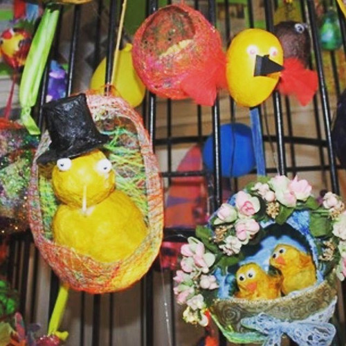 Easter Baskets, made with clients at Dam