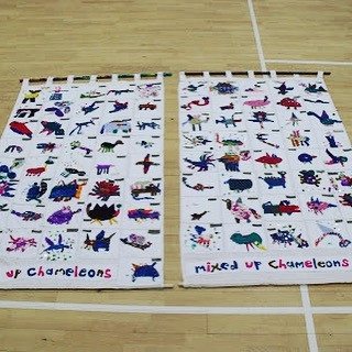 Textile banners made with a school in Ex