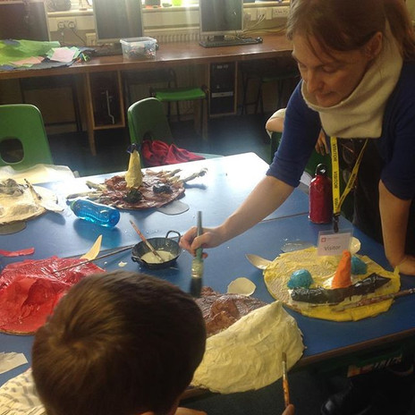 #maskmaking #creativeart #schoolworkshop