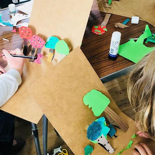 Making pop up woodland cards #childrensa