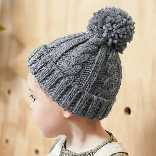 Toddler Cable Knit Beanie Hat