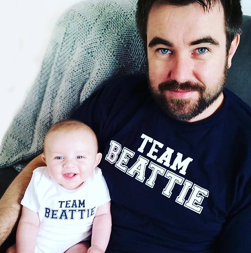 'Team Surname' Father And Child Matching T Shirts
