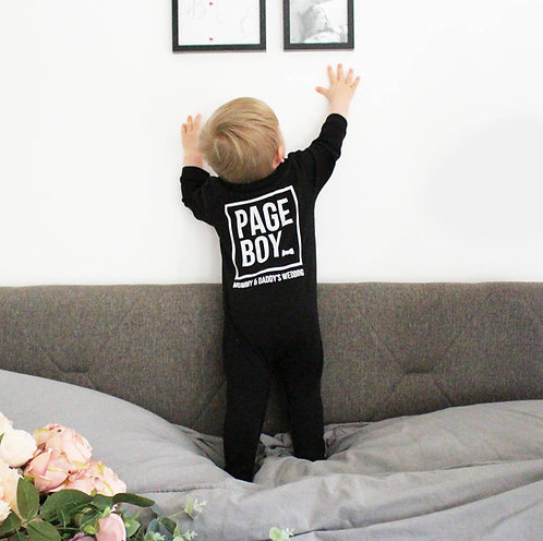 Personalised 'Page Boy' Baby Romper