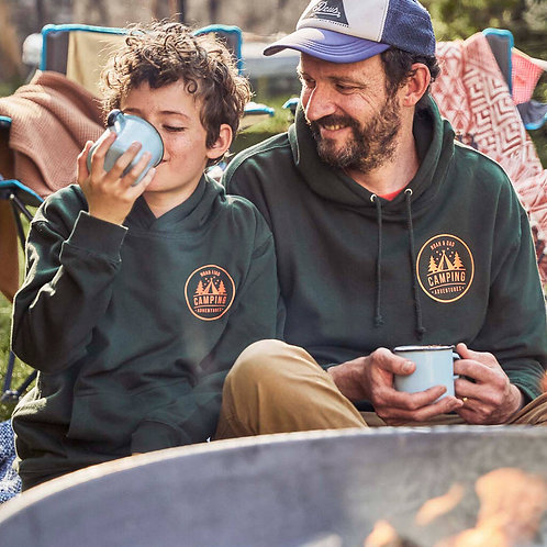 Dad And Child Matching Camping Hoodies