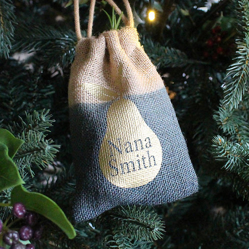 Christmas Tree Gift Bag With Dip Dye Gold Pear
