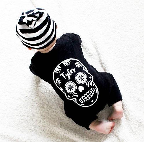 Sugar Skull Baby Romper