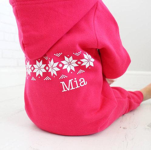 Personalised Winter Onesie For Children