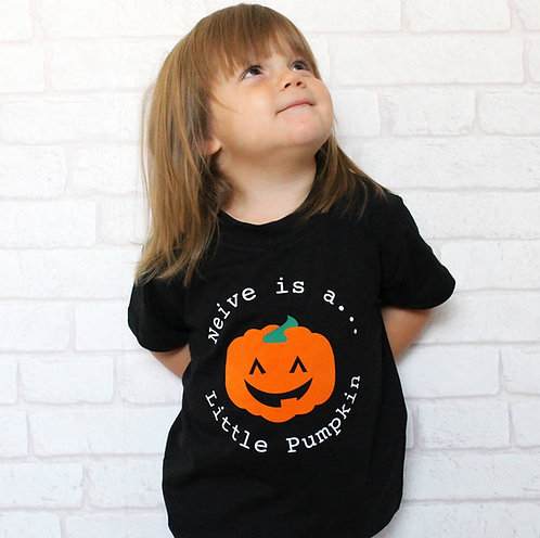 Halloween Personalised Little Pumpkin T Shirt