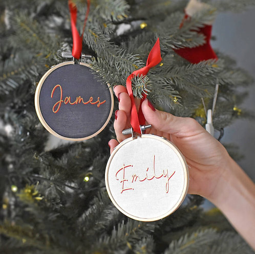 Personalised Christmas Hoop Decoration
