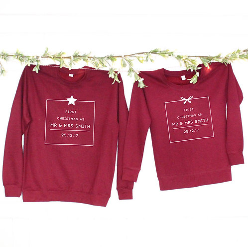 'First Christmas As Mr And Mrs …' Christmas Jumpers