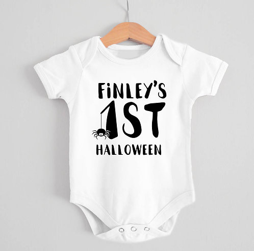 Personalised '1st Halloween' Babygrow