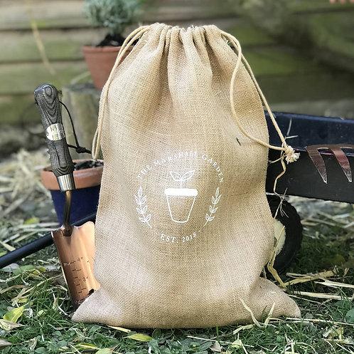 Hessian Gardening Utensils Bag