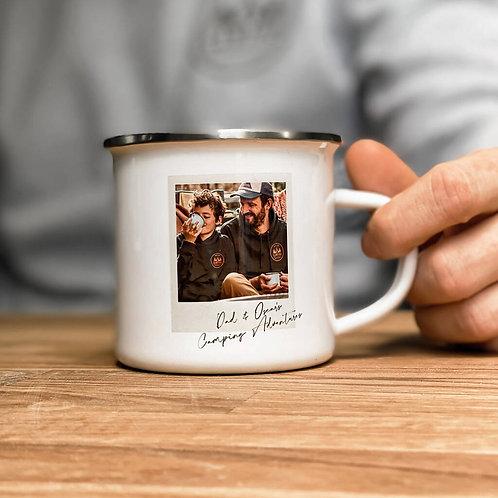 Personalised Photo Camping Mug