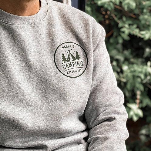 Personalised Camping Sweatshirt For Dad
