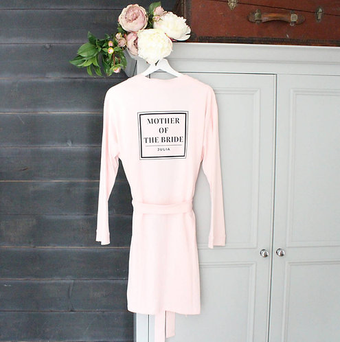 'Mother Of The Bride' Personalised Wedding Robe
