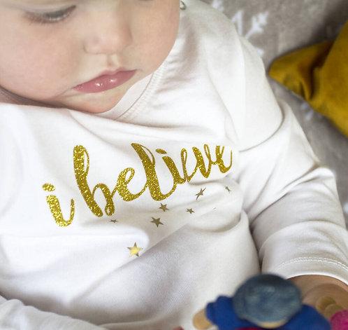 'I Believe' Long Sleeve Baby T Shirt