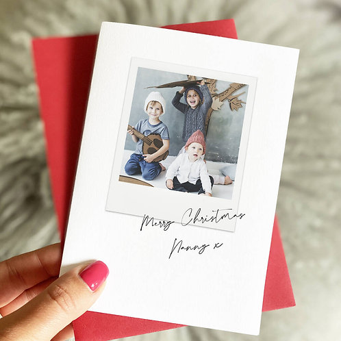Personalised Christmas Photo Card