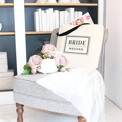Personalised 'Bride' Wedding Tote Bag