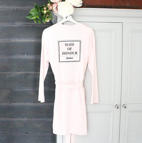 'Maid Of Honour' Personalised Wedding Robe