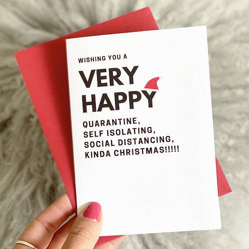 'Quarantine' Funny Christmas Card