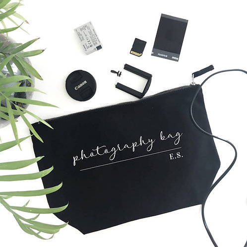 Personalised Photography Accessories Bag