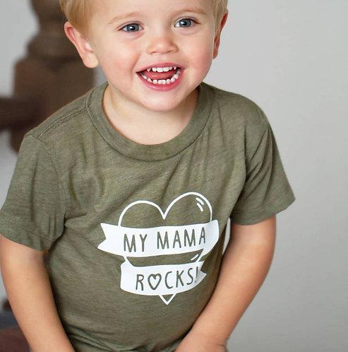 'My Mama Rocks!' Kids T Shirt