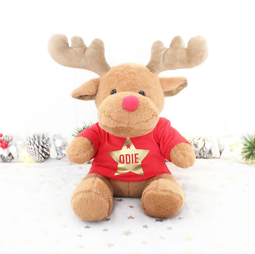 Baby's First Christmas Soft Reindeer Toy