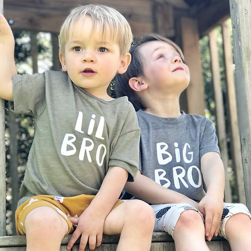 'Big Bro', 'Lil Bro' T Shirt Set