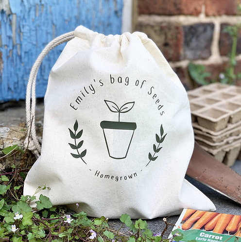 Personalised Gardening Seed Bag