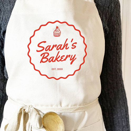 Personalised Fairtade Baking Apron