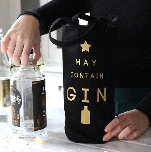 'May Contain Gin' Fairtrade Bottle Bag