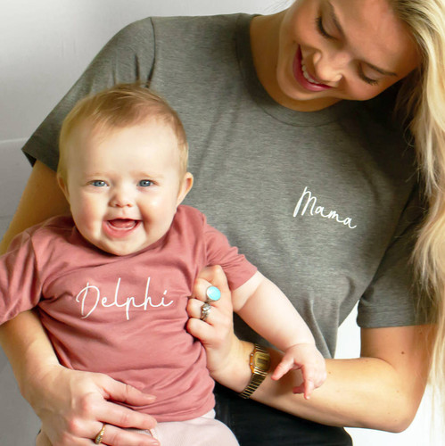 a1b8b7075b Matching Mama And Child Personalised T Shirts