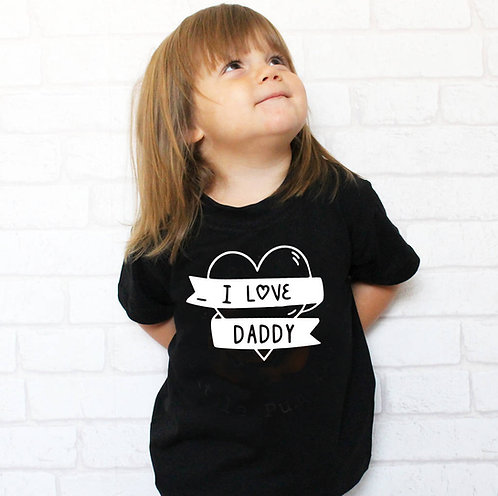 'I Love Daddy' Children's T Shirt