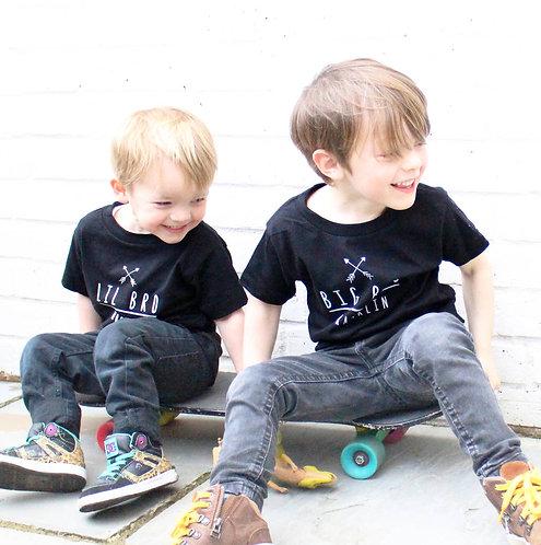 Black Arrow Big Bro Lil Bro T Shirt Set