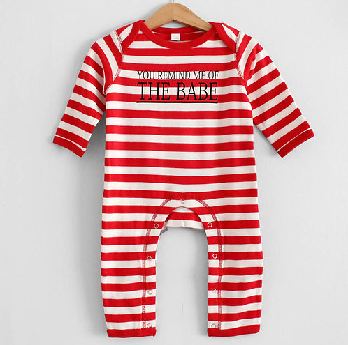 'You Remind Me Of The Babe' Stripy Romper