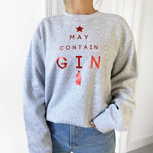 'May Contain Gin' Christmas Jumper