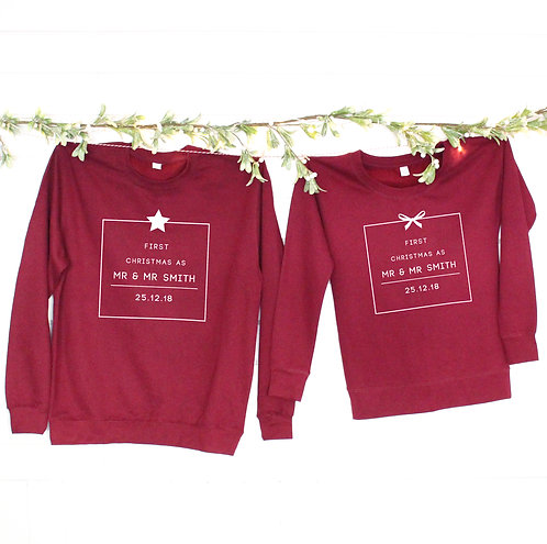 'First Christmas As Mr And Mr …' Christmas Jumpers