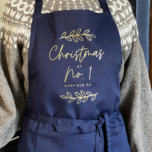 Personalised Home Christmas Apron