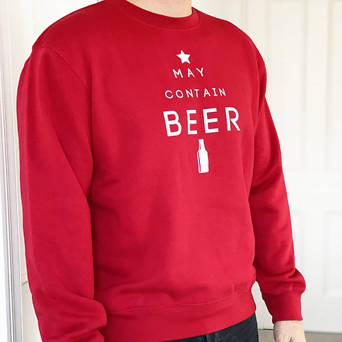 'May Contain Beer' Christmas Jumper
