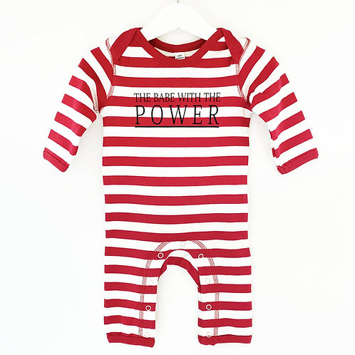 'The Babe with the Power' Stripy Romper