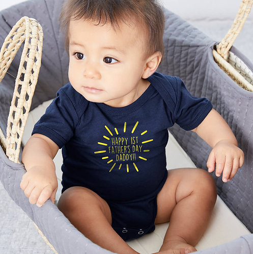 'Happy 1st Father's Day Daddy' Baby Grow