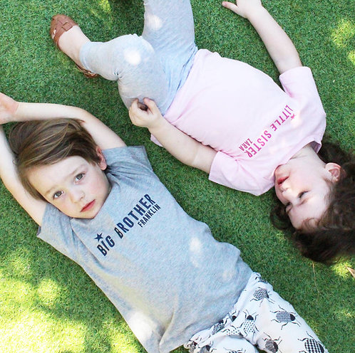 Personalised Brother And Sister T Shirt Set