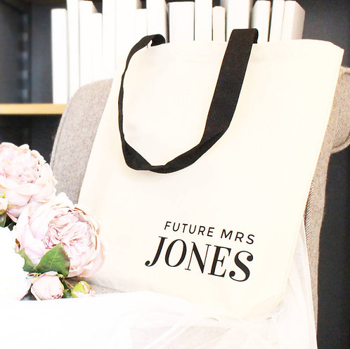 'Future Mrs …' Wedding Tote Bag
