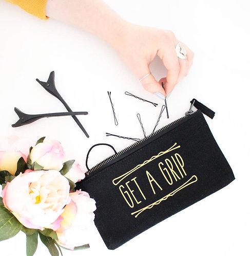 'Get A Grip' Hair Accessory Zip Bag