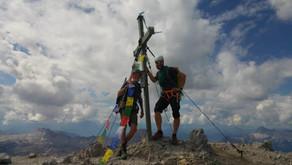 Durch die Watzmann Ostwand mit einem 75-Jährigen