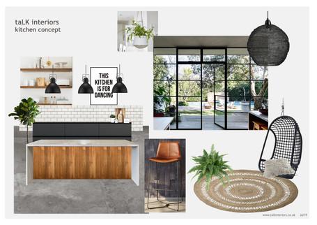 Stylish Black & White Kitchen