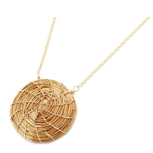 Small golden grass pendant