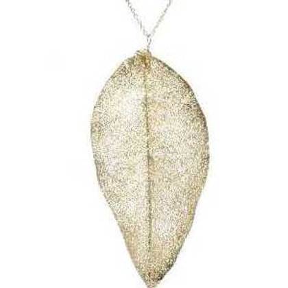 Magnolia leaf necklace