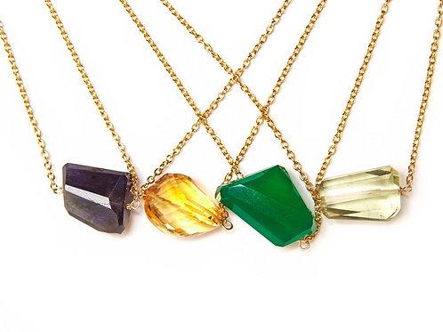 Single nugget necklace
